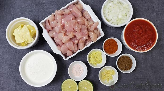 keto butter chicken ingredients