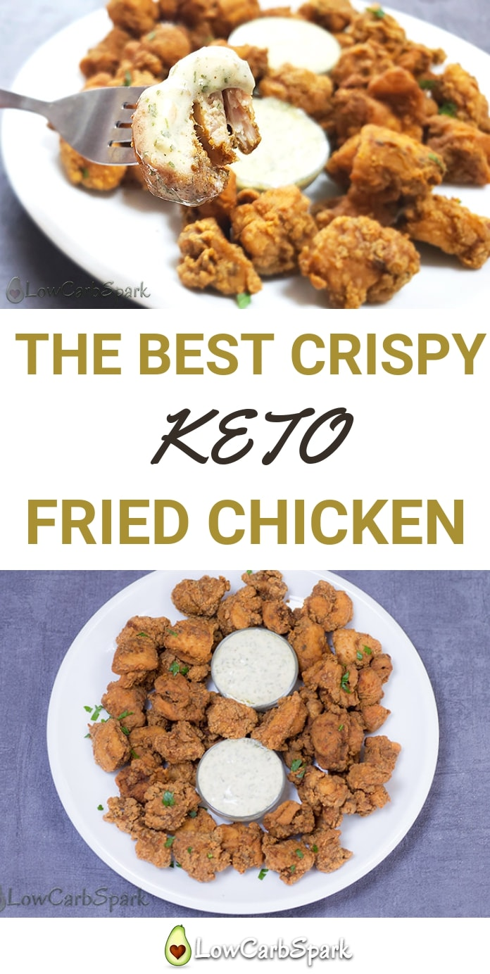 Try the best crispy keto fried chicken recipe that is so delicious, healthy, low in carbs and easy to make #ketodiet #ketofriedchicken #keto #ketorecipes