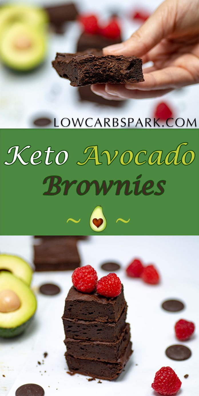 Healthy Avocado Brownies are super fudgy, a chocolate heaven full of healthy fats. Enjoy a low carb, keto, sugar-free and grain-free dessert. #ketodessert #avocadobrownies #diet #keto #lowcarb