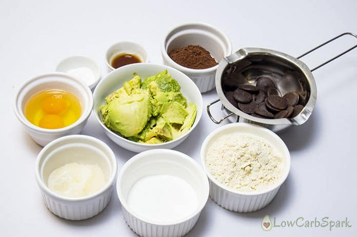 ingredients for keto avocado brownies