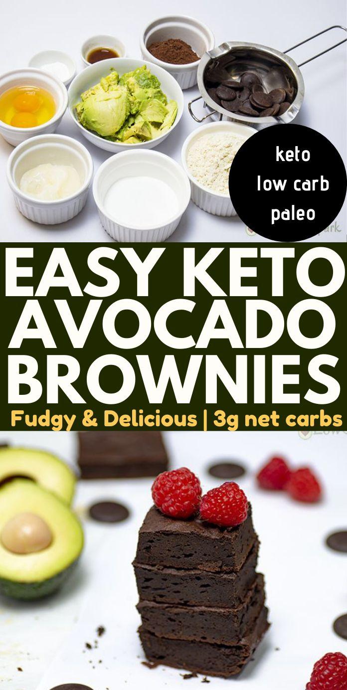 The Best Easy Keto Avocado Brownies - 3g net carbs