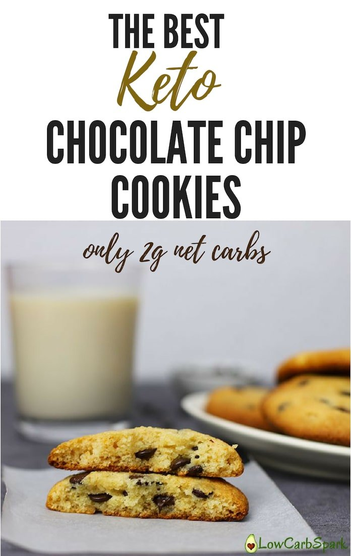 Low carb cookies are the perfect treat to have on a ketogenic diet. These are the ideal keto dessert to have on hand for busy days because they are high in fat and the dark chocolate chips are a perfect addition to the overall sweetness. These are also gluten free and sugar free cookies!