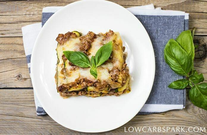 keto lasagna with zucchini noodles