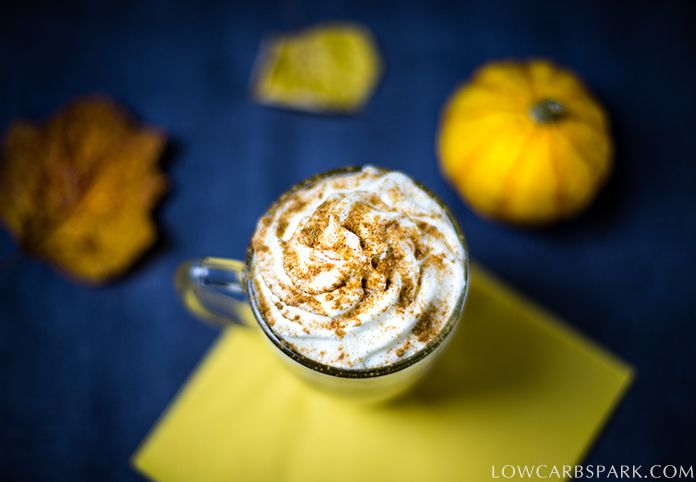 keto pumpkin spice late healthy recipe