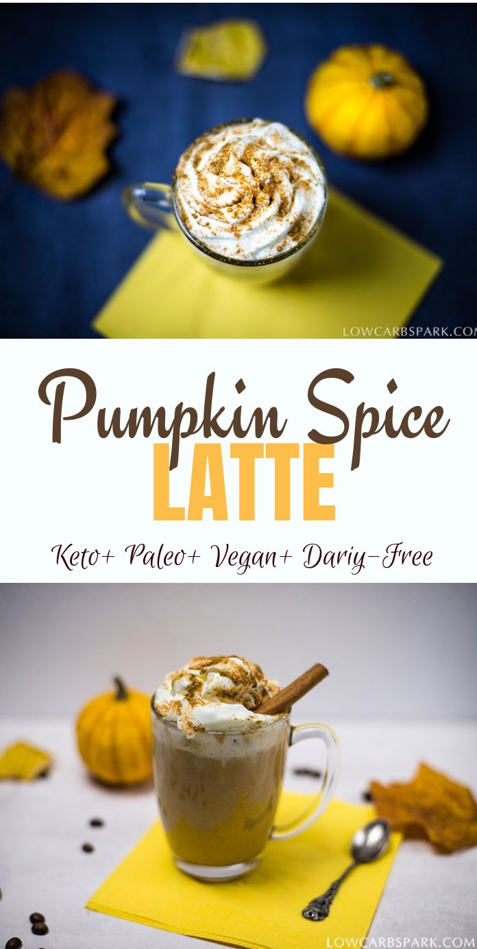 Healthy Keto Pumpkin Spice Latte - Vegan & Dairy-Free This keto pumpkin spice latte is the definition of fall and the perfect drink for cold days. It is a pumpkin-infused sugar-free coffee that\'s very healthy, full of wholesome ingredients, creamy and delicious. Not to mention that this healthy pumpkin spice late is sugar-free, vegan and low carb.