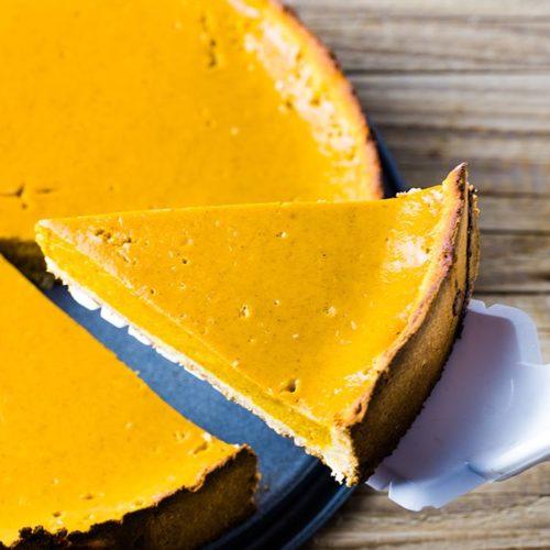 ingredients for the keto pumpkin pie