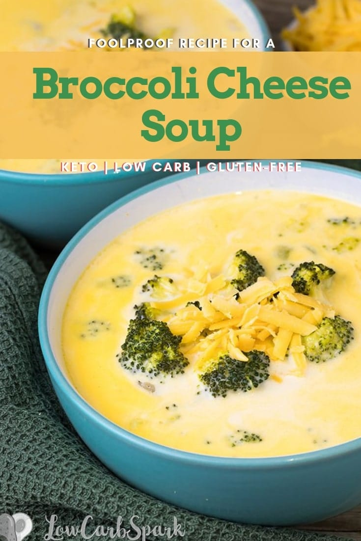 This broccoli cheese soup is creamy, delicious and ready in less than 30 minutes. A comfort meal with cheddar cheese and tender broccoli.