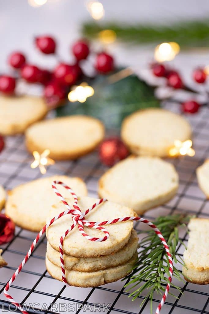These keto sugar cookies are not only easy to make but low carb. They are soft on the inside, crunchy on the outside and buttery. It's a classic  Christmas Cookie Recipe made without sugar and grains. To make these sugar cookies, you will need almond flour and coconut flour.  It's a pleasure to make these easy keto sugar cookies.