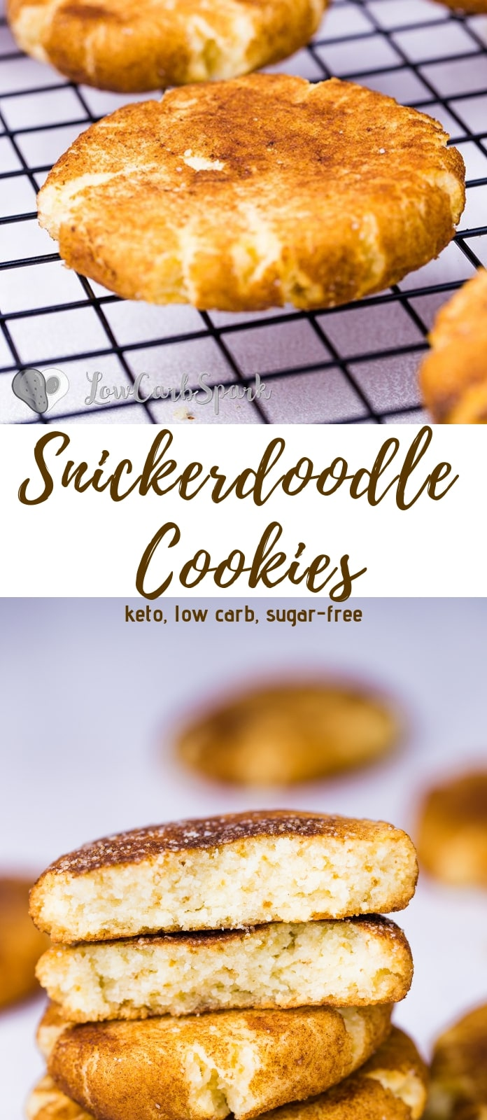 Thick & Soft Keto Snickerdoodle Cookies
