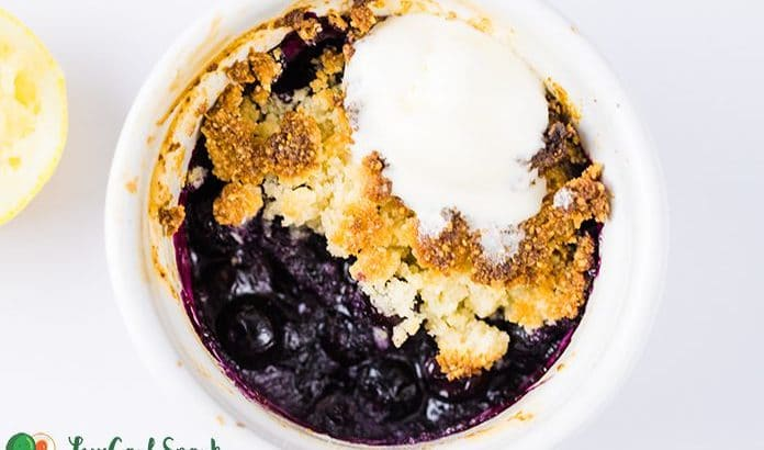 The Best Buttery Keto Blueberry Cobbler