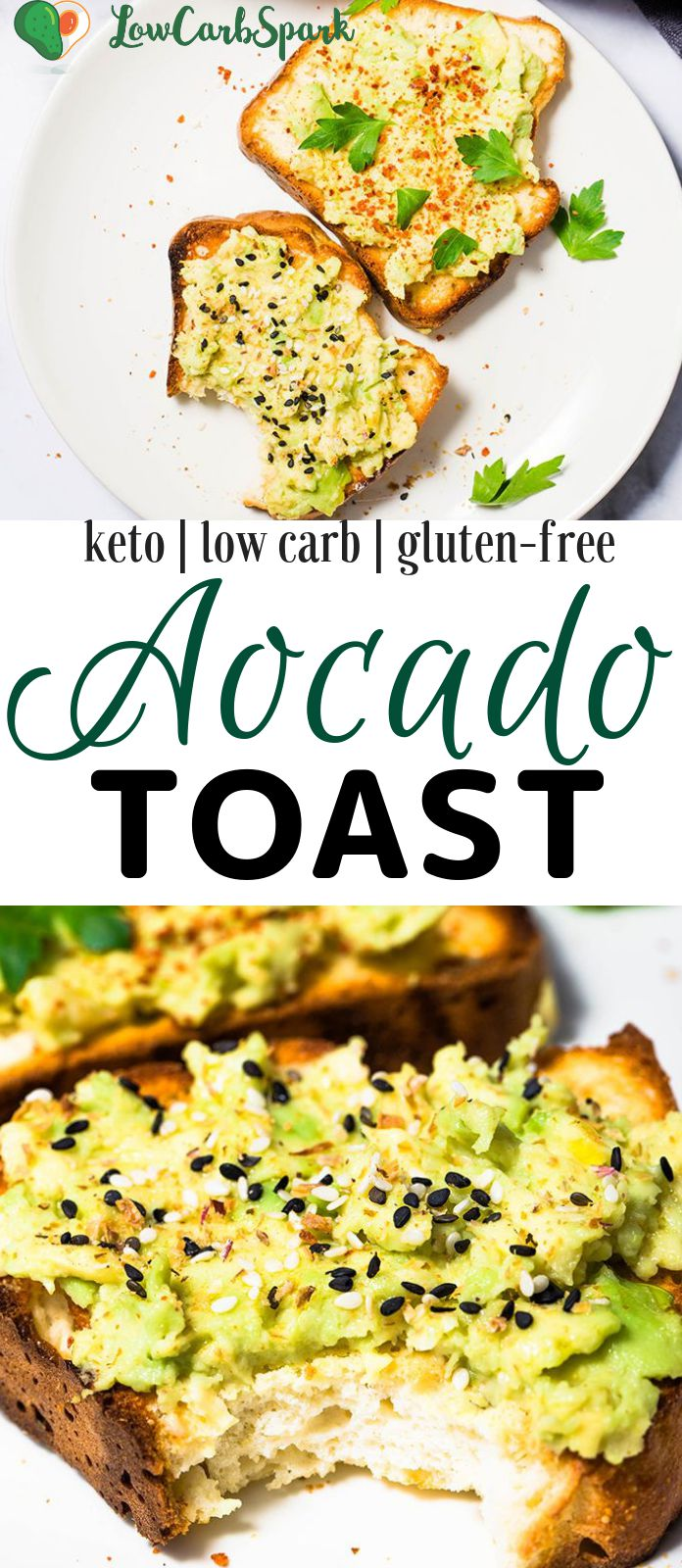 This summer I'm going to enjoy these keto avocado toasts. It's an incredibly simple recipe perfect for a delicious breakfast or a snack and can be customized in many different ways for a tasty experience.  #ketodiet #ketoavocadotoast #ketobreakfast #avocado