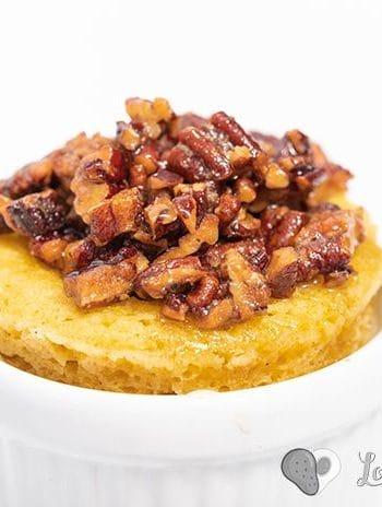 Easy Low Carb Keto Pecan Pie Mug Cake