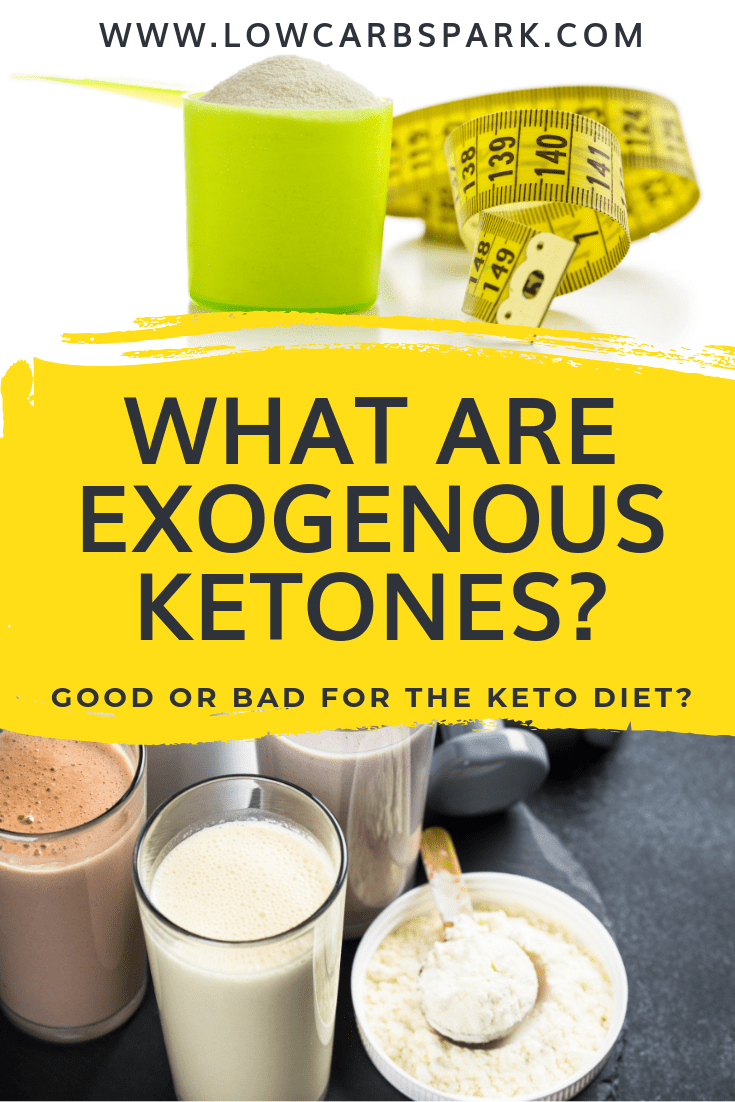 What are Exogenous Ketones? Good or Bad for The Keto Diet? In this guide, you\'ll learn all about exogenous ketones (beta-hydroxybutyrate salts or esters) and what are the benefits of drinking ketones made out of your body. #exogenousketones #ketones #ketodiet #ketosis