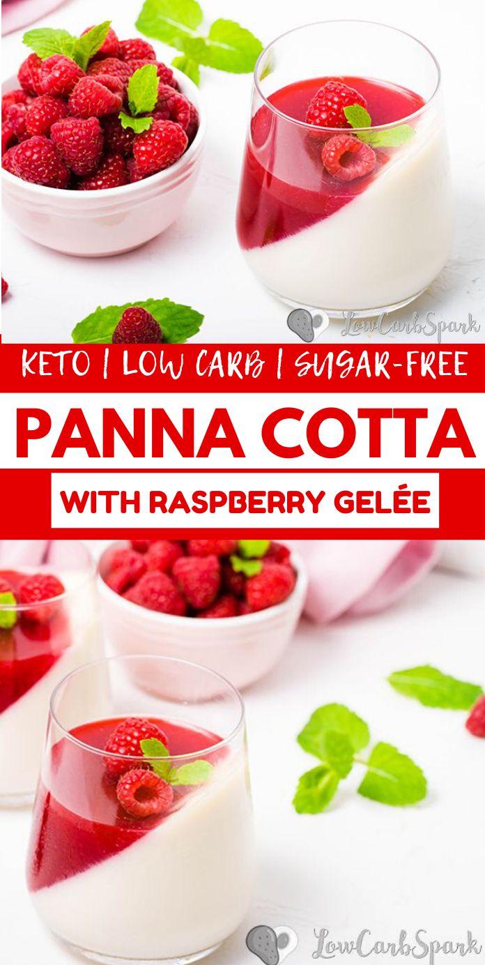 Keto Panna Cotta with Raspberry Gelée
