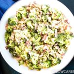 Creamy and Cheesy Garlic Broccoli with Bacon