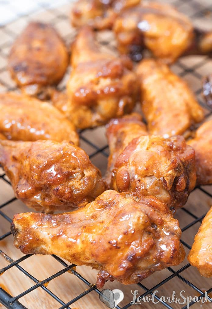 These Air Fryer Chicken Wings are super crispy, and the meat is juicy. Cooking Chicken Wings in an Air Fryer instead of deep frying makes them a healthy choice. This extremely popular recipe is ready  30 minutes and super easy to make! Toss them in a delicious low carb Buffalo sauce, and your meal is ready.