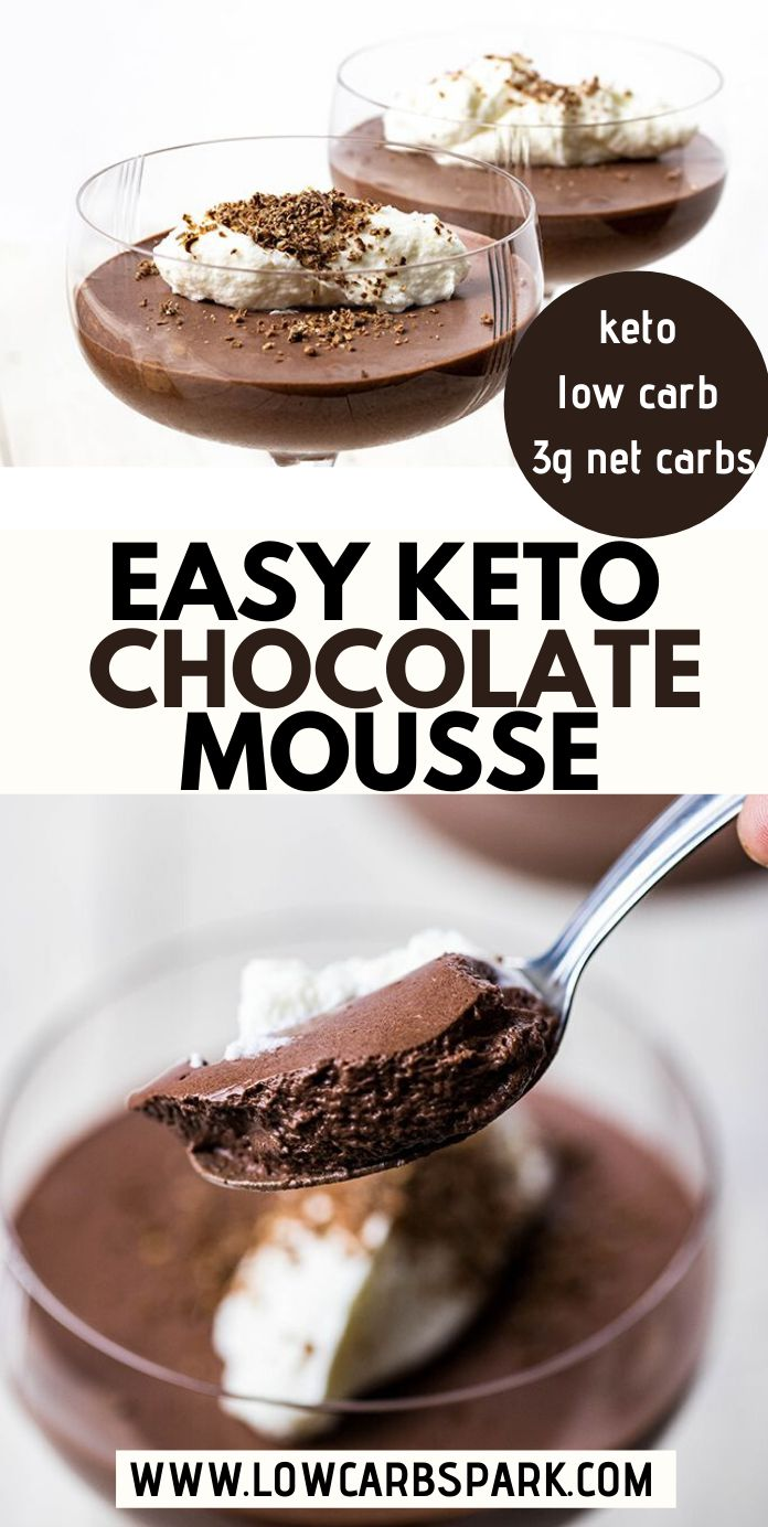 Low Carb & Keto Chocolate Mousse