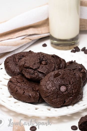 Flourless Almond Butter Double Chocolate Chip Cookies