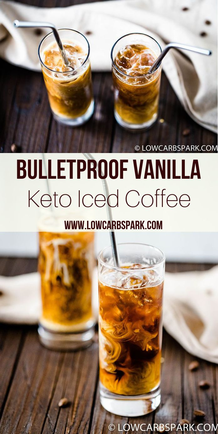 This keto iced coffee is incredibly delicious and perfect for hot summer days. Enjoy a refreshing cold bulletproof coffee that's creamy, fancy and easy to make. Recipe via @lowcarbspark | www.lowcarbspark.com