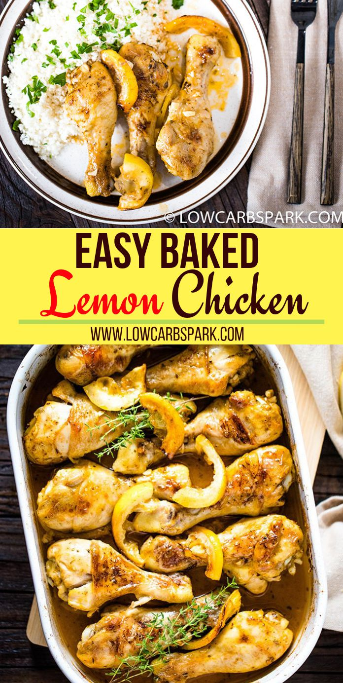 Baked Lemon Garlic Chicken is packed with tons of delicious and fresh flavors. Extremely easy to whip up in just 30 minutes enjoy this tender and juicy lemon chicken with your entire family. The lemon sauce is not overpowering the dish and bring the best flavor in the chicken. Recipe via @lowcarbspark
