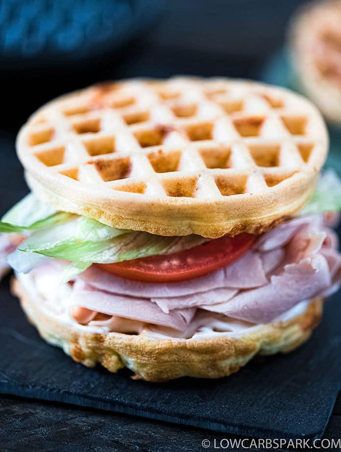 sandwich with keto waffles
