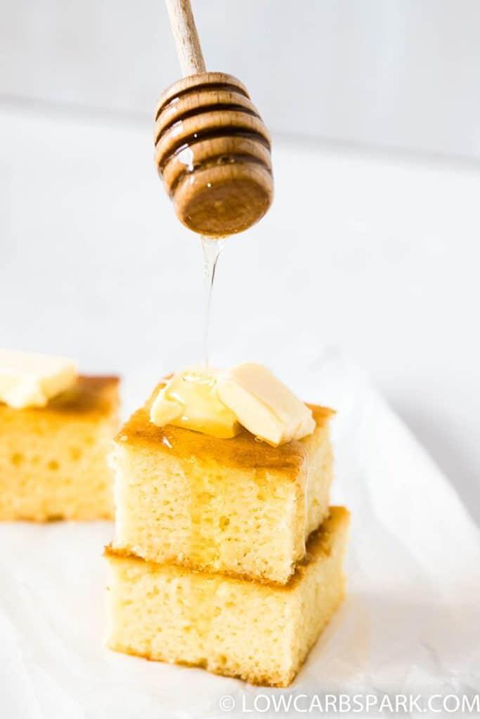 sugar-free syrup buter cornbread