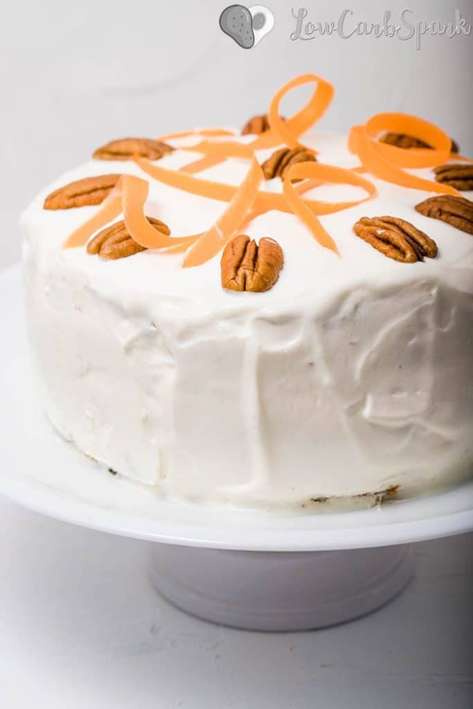 low carb keto carrot cake with almond flour