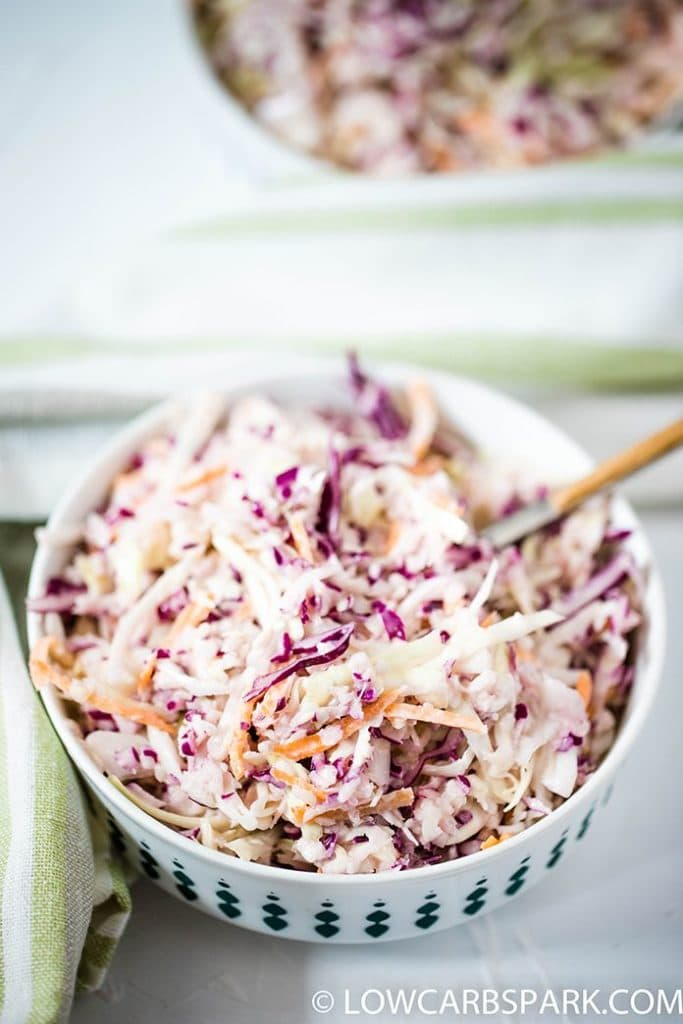 creamy and tangy coleslaw salad recipe