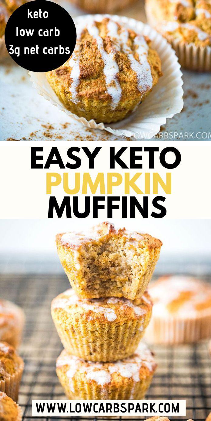 Super Easy Keto Pumpkin Muffins