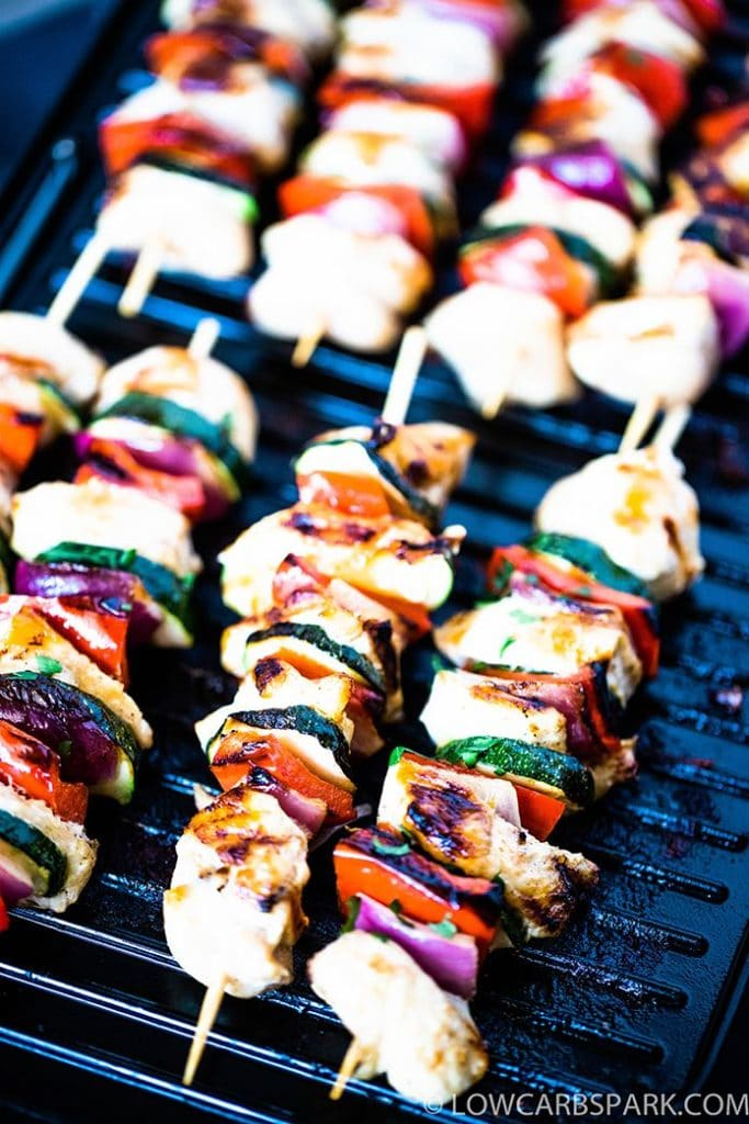 how to make chicken kabobs on the electric grill