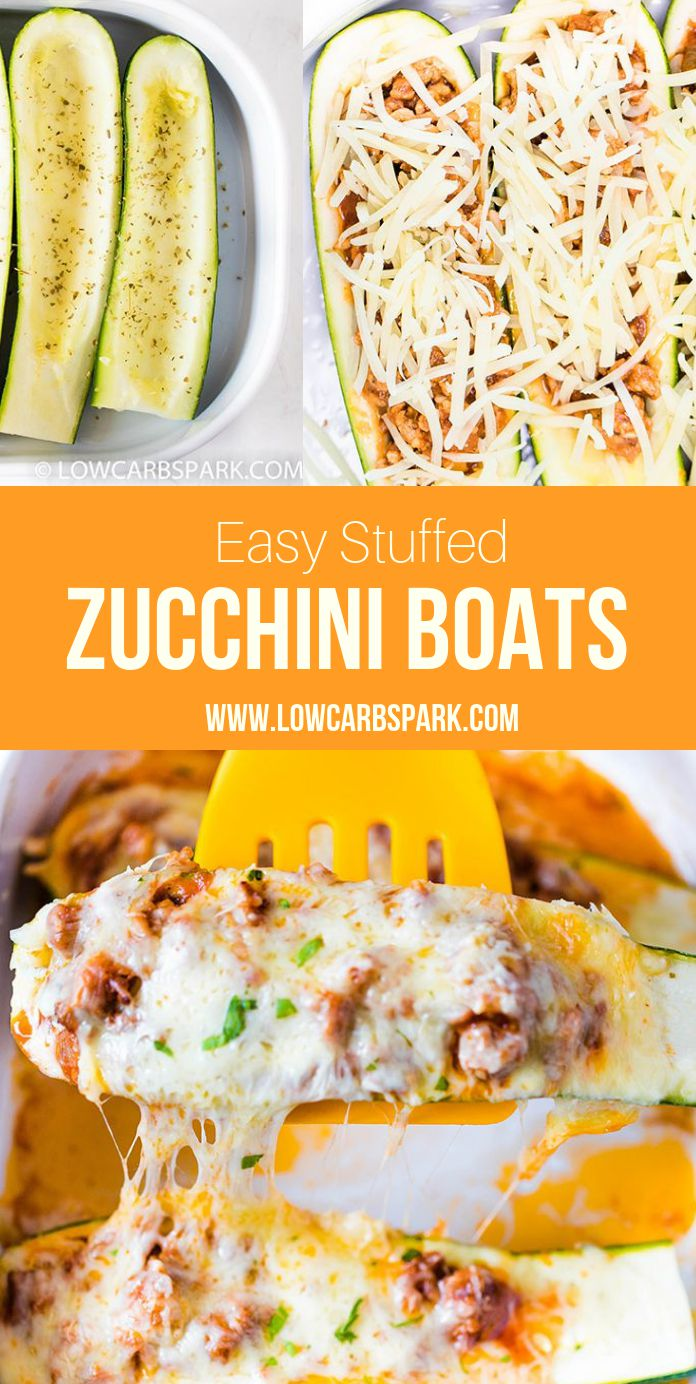 These stuffed zucchini boats are the perfect way to enjoy a delicious and fresh recipe filled with a tasty beef meat sauce all covered in mozzarella cheese. This zucchini recipe has Italian flavors, the zucchini is tender and the meat is extremely flavorful.