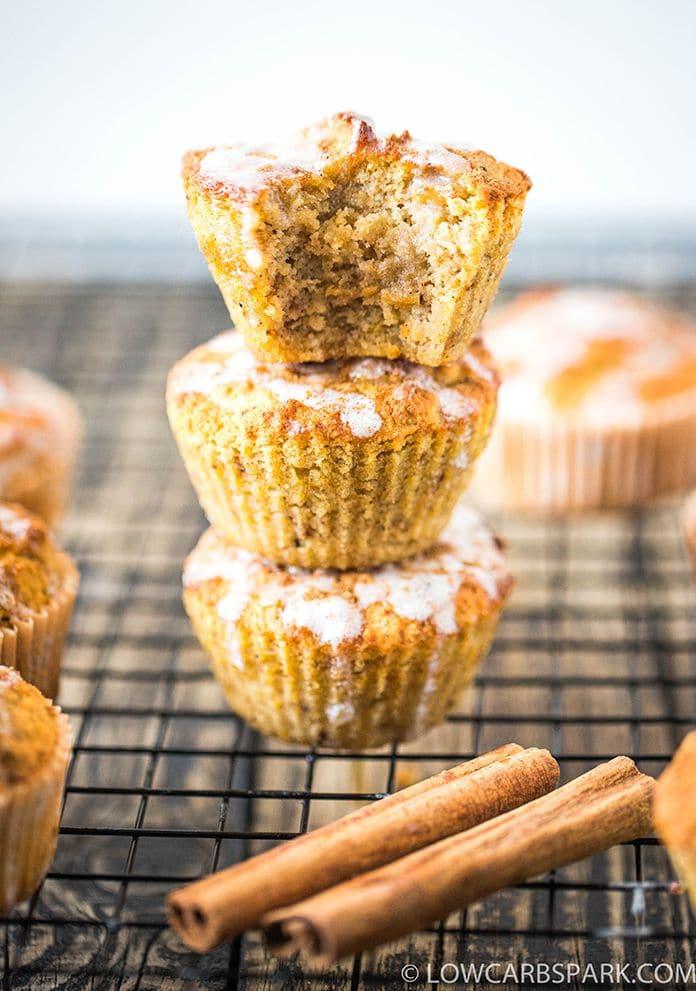 super easy to make keto and paleo pumpkin muffins
