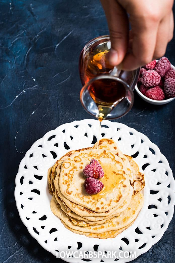 These cream cheese pancakes are gluten-free and perfect for a low-carb breakfast. Just mix a few ingredients to make this delicious egg-fast friendly recipe. It's so easy to whip up super healthy light and fluffy breakfast pancakes.