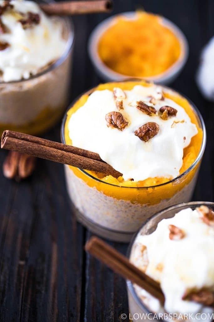 easy fall chia pudding