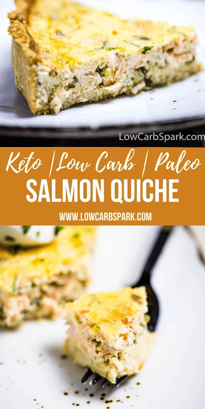 Easy Keto Salmon Quiche – Savory Low Carb Pie