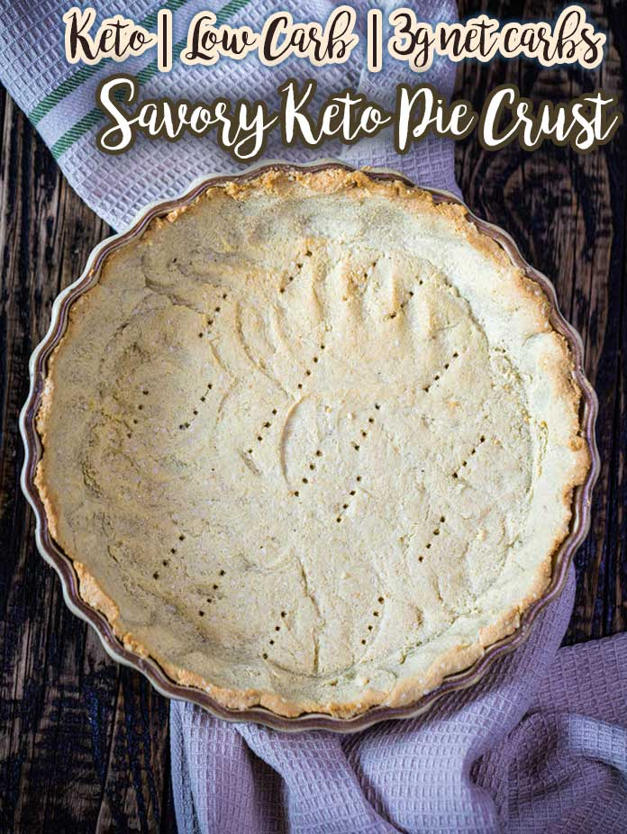 This savory keto pie crust is ready in less than 20 minutes, and it\'s perfect for tarts, pies, and quiches. This grain-free crust is crispy, flakey and holds up well. Magic savory paleo crust made with just 5 ingredients!
