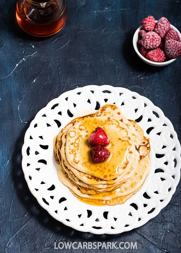 the best keto low carb pancakes with cream cheese