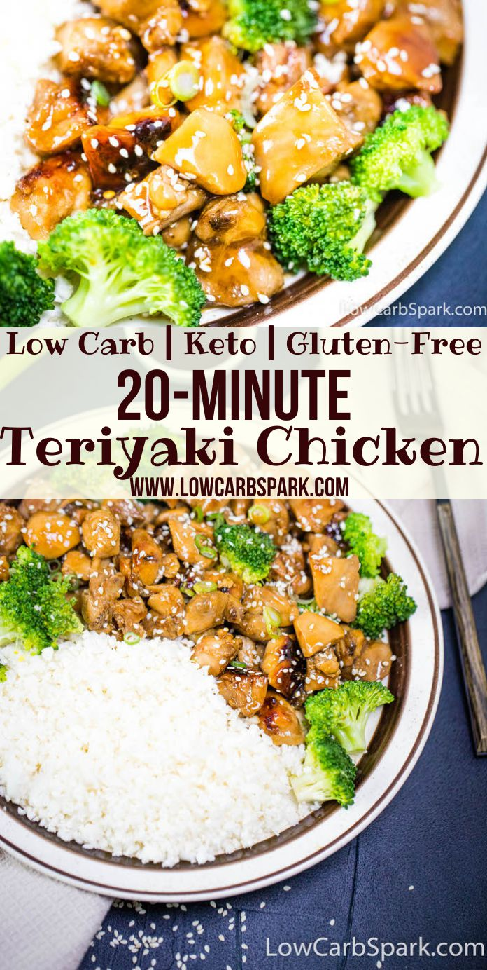 This Keto Teriyaki Chicken is my latest obsession not only because it's a one-pan meal but because it tastes like my favorite Asian take-out. And it's one of those ready in less than 20 minutes dinners that everyone loves. Beautifully roasted chicken-fried tossed with an incredibly delicious keto sugar-free teriyaki sauce.