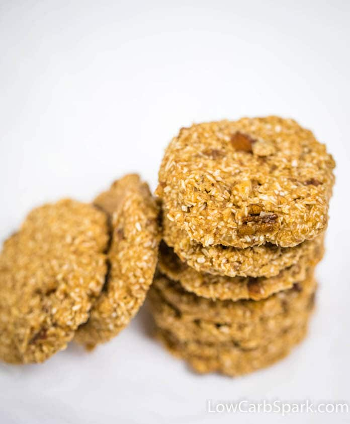 easy quick no bake low carb keto cookies