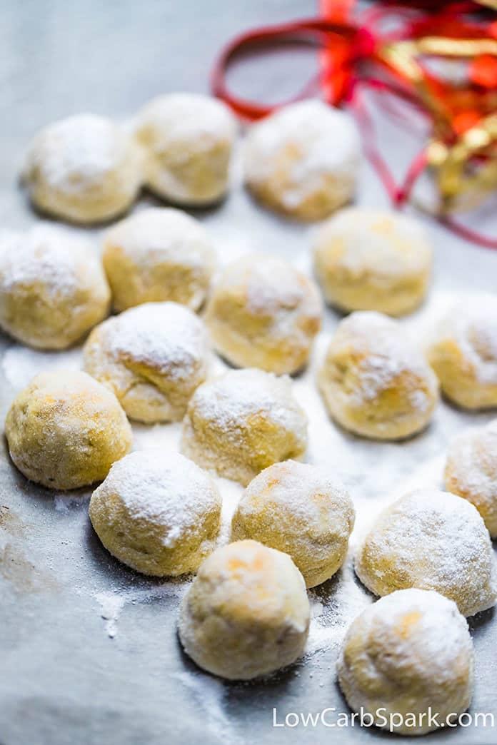 easy keto snowball cookies recipe
