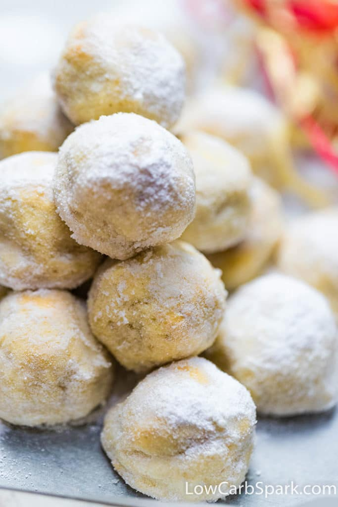how to make snowball cookies with almond flour