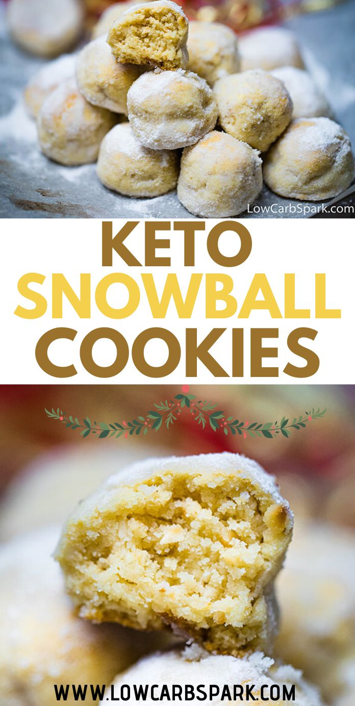 Keto Snowball Cookies – 1g Net Carb