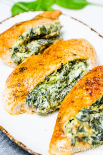 Cream Cheese Spinach Stuffed Chicken Breast – {Low Carb, Keto}