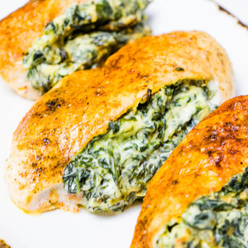 Recipes For Chicken Breast Low Carb: Cream Cheese Spinach Stuffed Chicken Breast