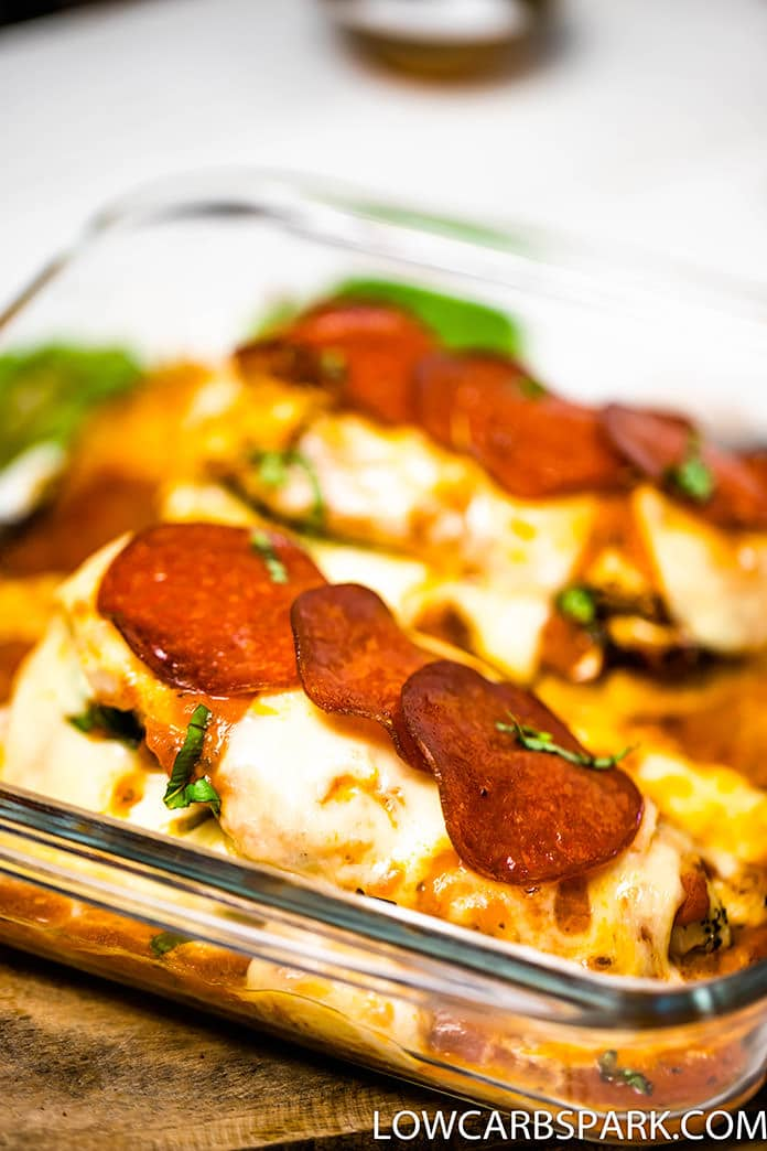 easy pizza stuffed chicken breast