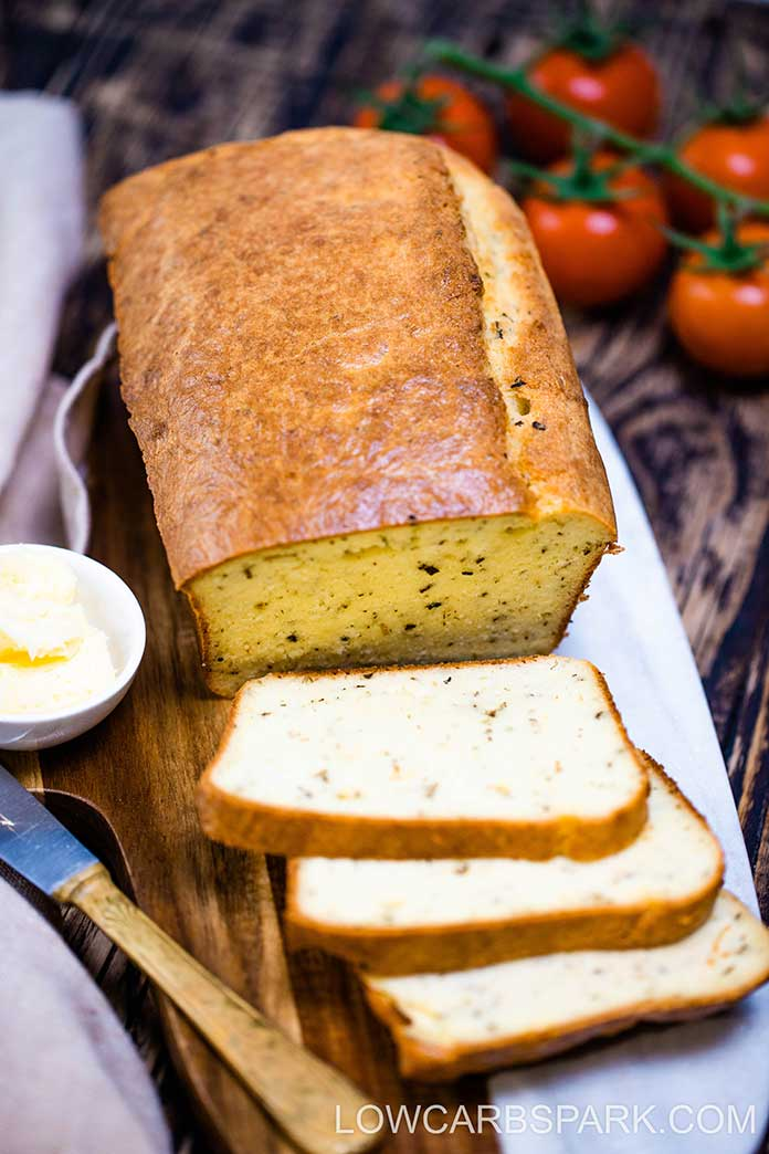 This Italian Herb infused Keto Bread is absolutely delicious, holds together well, and it's super easy to make. The flavor and texture make this bread a great complement for so many meals! Recipe via @lowcarbspark!