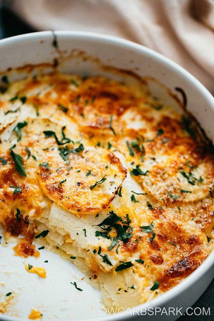 how to make turnip au gratin lowcarbspark