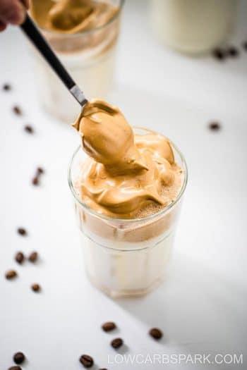 Keto Dalgona Coffee – Sugar-Free Whipped Coffee