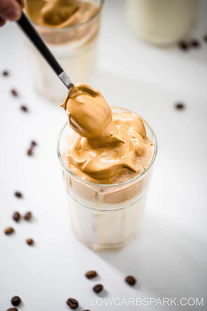 Keto Dalgona Coffee Sugar Free Whipped Coffee Low Carb Spark