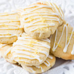 These sugar free lemon cookies are extremely soft on the inside, crispy on the outside and packed with lemon flavor. Drizzle them with my two ingredients keto lemon glaze and everyone will love them.